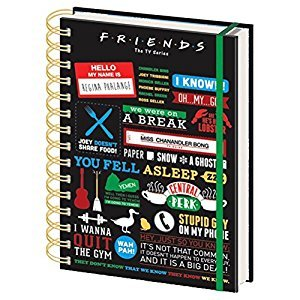 Official Licensed Friends The TV Series Quotes A5 Spiral-Bound Notebook