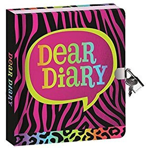 Peaceable Kingdom Bright Animal Print Shiny Foil Cover Lock and Key Diary