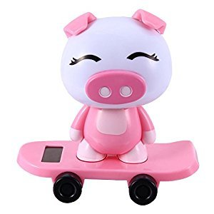Solar Powered Dancing Cute Animal Monkey Pig Panda Dog Boy Girl Toys for Dashboard Desk Home Office