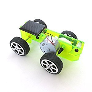Solar Toys-Bessky® New Creative DIY Educational Solar Car Kit Toy Popular Science Toys Children's toys (#58Green, small)