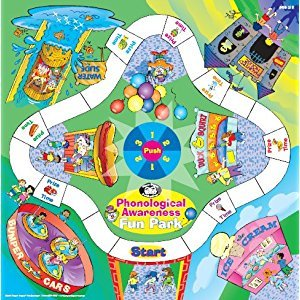 Phonological Awareness Fun Park Board Game, Book, & Printable CD-ROM - Super Duper Educational Learning Toy for Kids