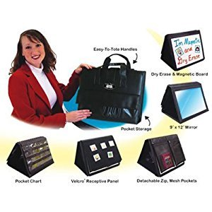 Portable Mirror, Pocket Chart, Wipe Off, & Velcro Board Therapy Center - Super Duper Educational Learning Resource