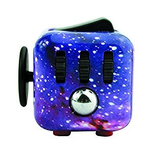 Fidget Cube for Fidgeters Stress Reliever Relieving ADD, ADHD, Anxiety and Boredom bearing for Children and Adults (Galaxy)