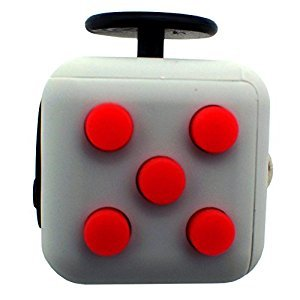 HKCB Fidget Toys Cube Stress Cube Relieves Anxiety and Depression for Adults and Children(Red)