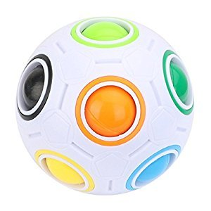 Magic Rainbow Ball Cube Puzzle Fun Fidget Balls For Children And Adults