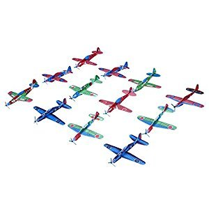 Cido Fantastic 12pcs Flying Glider Planes Toys Aeroplane Bag Fillers Childrens Kids Prizes Gift