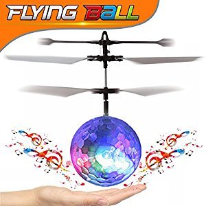 GBD RC LED Flying Magic Toys,Children Flying Ball Hand Spinner RC Drone Infrared Induction Helicopter Aircraft Ball LED Disco Lights for Easter Kids Boys Girls Teenagers Birthday Gift