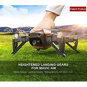 Mavic Air Landing Gear Stabilizers, Sunnylife Stable Heightened Quick Installation Bionic Toe-out Structure Design, [Compatible with Original Propeller Guard] Landing Gear Stabilizers for DJI Mavic Air Drone