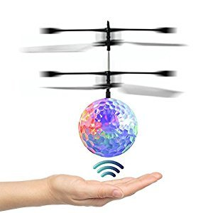 RC Flying Ball, Infrared Induction Helicopter Ball with Rainbow Shinning LED Lights and Remote Control for Kids, Flying Toy for Boys and Girls