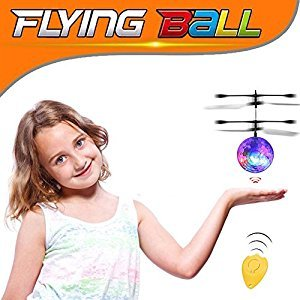 RC Flying Ball , RC Infrared Induction Helicopter Colorful Ball Built-in Shinning With Remote Control for Kids, Teenager (Crystal ball)