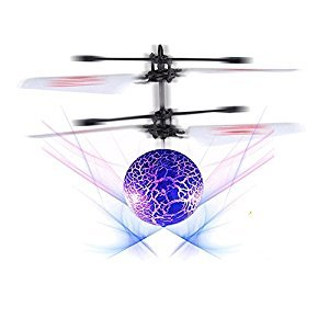 RC Flying Ball Toy Infrared Induction Helicopter Ball Built-in Shinning LED Lighting for Kids/Teenager
