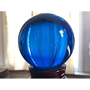 Fengshui Meditation Crystal Ball Healing Crystals 70MM by Sunrise Crystal (Dark Blue)