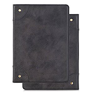 Galaxy Tab S 8.4 Case,HuLorry Folio lightweight Tablet Case Vintage Book Style Composition Cover PU Leather Duty Rugged Protective Heavy Case for Samsung Galaxy Tab S 8.4 Inch SM-T700