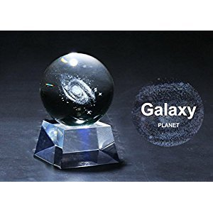 GZQ Clear Crystal Ball Sphere for Astronomer, Lover of Space, Kids and Student (A)