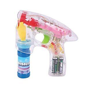 Light Up LED Transparent Bubble Gun Blaster Toy - Light Up LED, Transparent, & Battery Operated - For Kids, Boys, Girls, Playing, Outdoors, Indoors, Gifts, & Party Favors – Kidsco
