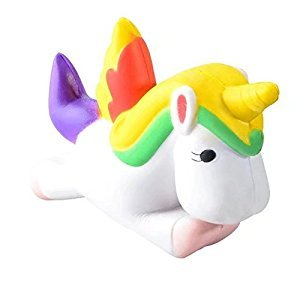Firlar Squishy Animal Unicorn Slow Rising Stress Relief Toy for Kids Adults (A)