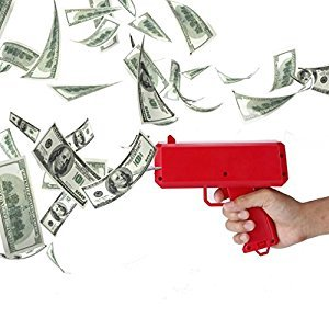 Jeda New Cash Cannon Money Gun Make It Rain Money Gun Red Cash Gun Christmas Toys Fashion Toy Gift (50 Cash)