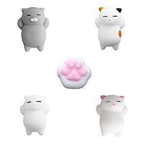 Squishy Animal Toys, ITOY&IGAME 5 Pcs Squishy Toy Animals Mini Kawaii Reduce Stress Toys Mochi Squishy Animal Seal Slow Rising Squishies For Kids Adults Reduce Stress