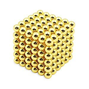 TPSKY,Magnetic Ball, Magnetic Sculpture Toys for Intelligence Development and Stress Relief (5MM 216 Magnetic Balls) (Gold)