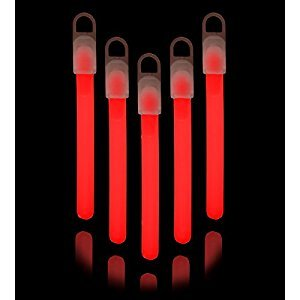 "25 4"" Lumistick Premium Glow Sticks - Red"