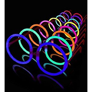 50 Round Lumistick Glow Eyeglasses - 8 Color Assorted Mix