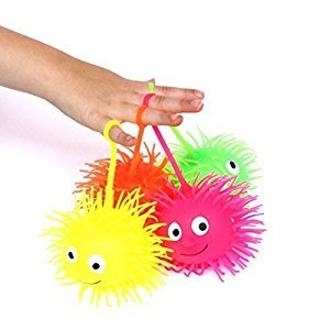 Dazzling Toys Light up Puffer Balls - Pack of 6 (D098)