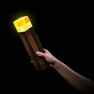 Minecraft Light-Up Torch light Lamp Nightlight Mine Craft Handheld Wall Mountable Night Lamp