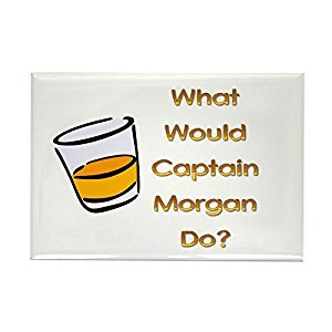 CafePress - What Would Captain Morgan Do? - Rectangle Magnet, 2