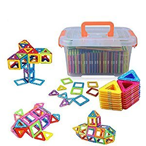 Large Size Magnetic Blocks, Woreach 64Pcs Magnetic Blocks Building Toys for Boys and Girls, 3D Building Blocks Construction Set For Babies/ Kids/Toddlers