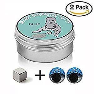 Maikerry Magnetic Clay- 2 PCS Magnetic Slime Putty Magnetic Putty Magnetic Rubber Mud DIY Clay Creative Playdough Magnet Toy Children's Toy for Birthday Gift Christmas Gift (Random Color)