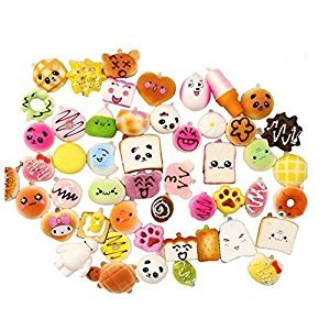 Pack of 12 Slow Rising Squishies Squishy Bread Charms Toast Bread Toy Squeeze Relieve ,Randomly Sent