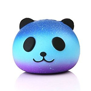 Slow Rising Squishies - Jumbo Squishy Fruit Food Animal Kawaii Cute Mochi Scented Key Chain Soft Squishy Charms Party Favors Toy Birthday Gift Choice for Boys Girls Teen Adults (09 Panda)