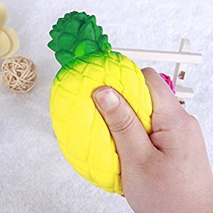 TR.OD 1PC Squishy Soft Toy Simulation Pineapple Reduce Anxiety Toy