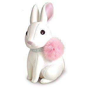 DomeStar Cute Rabbit Piggy Bank, Coin Bank, White, Best Christmas Gift