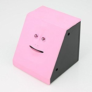 Face Bank - Coin Eating Savings Bank (Pink)