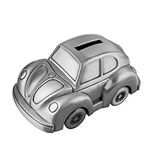 Feyarl Vintage Piggy Bank Car Shape Savings Money Coin Bank for Christmas Gift Kids (5.5 x 3.2 x 2.5 inches)