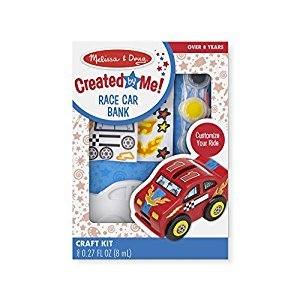 Melissa & Doug Decorate-Your-Own Wooden Race Car Bank Craft Kit