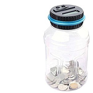 TOYMYTOY Digital Coin Bank Savings Jar Piggy Bank Money Saving Box Large Capacity with LCD Display