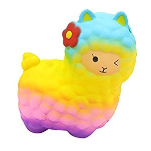 Vinjeely Jumbo Sheep Fun Animal Toys Squishy Cute Alpaca Super Slow Rising Scented Toys for Kids and Adults Colorful
