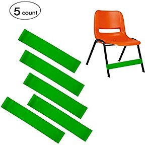 ( 5 count ) Natural Latex Stretch Foot Bands ,Workout ADHD ADD SPD Autism Sensory Needs & Stretch Foot Band for Chairs by Solace, Helps Improve Focus in the Classroom,Rehab or Physical Therapy.