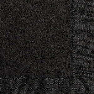 Black Beverage Napkins, 20ct