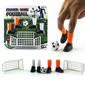 Cilected Finger Football Game Sets with Two Goals Funny Family Party Finger Soccer Game