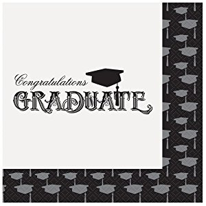 Classic Grad Party Napkins, 20ct