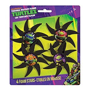 Teenage Mutant Ninja Turtles Foam Throwing Stars Party Favors, 4ct
