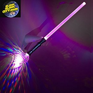 Multicolor Flashing LED Sword with Prismatic Sphere Handle