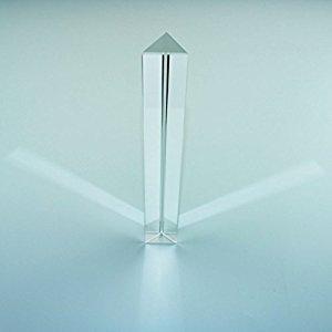 Samyo Optical Glass Triangular Prism Triple Prism for Physics Teaching Light Spectrum Optics Kits 7 Inch / 180mm