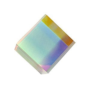 UEETEK Prism Cube,Optical Glass RGB Dispersion Prism X-CUBE for Physics Teaching Art Decor,20*20*20mm