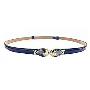Children Belt Fish Crystal Skirt Belt beautiful Decorative Belt, Navy Blue