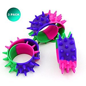 Extpro Spiky Slap Bracelets Bands Silicone Spike Wristbands Fidget Toy for Kids Adults(3 Pack)