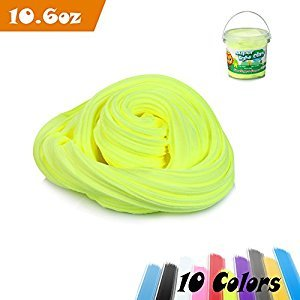 Be Magent Fluffy Slime, 10.6 Ounces/ 900ml Magic DIY Super Light Clay Non-sticky No Borax and Non Toxic Scented For Children and Adults (Green)
